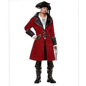 Men's XL Red Pirate Jacket Halloween Costume
